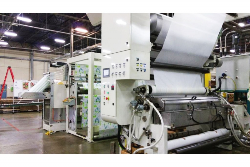 Inline coating & lamination application